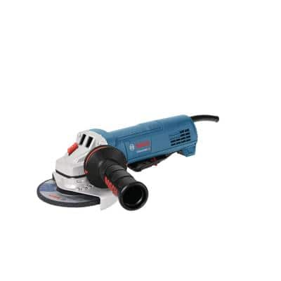 10 Amp Corded 4-1/2 In. Angle Grinder with Paddle Switch