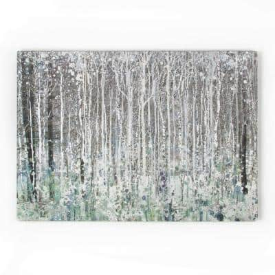"39 in. x 28 in. ""Watercolor Woods"" by Graham and Brown Printed Canvas Wall Art"