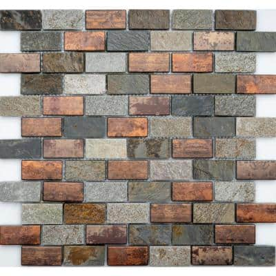 Copper Natural Stone Tile Tile The Home Depot
