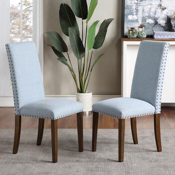 Harper Bright Designs Light Blue, Blue Dining Room Chairs