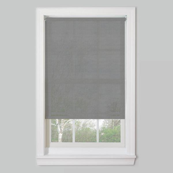 Bali Cut To Size Cut To Size Charcoal Cordless Uv Blocking Fade Resistant Roller Shades 68 In W X 72 In L 70x72cdlspsrc The Home Depot