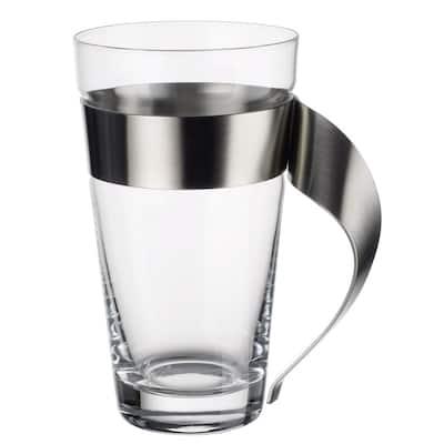 New Wave 16 oz. Glass and Stainless Steel Macchiato Mug