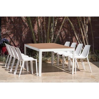 San Diego 9-Piece Wood/Plastic Rectangular Patio Dining Set