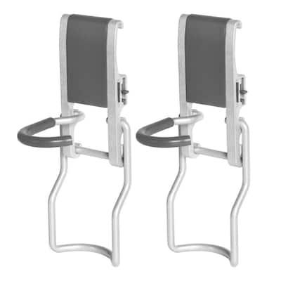 3.86 in. L Garage Storage System Organization Rail Hook Vertical Bike Hooks (2-Pack)