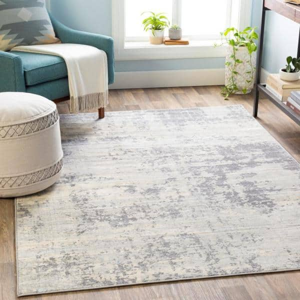 Artistic Weavers Utari Gray 5 Ft 3 In X 7 Ft 3 In Area Rug S00161016216 The Home Depot