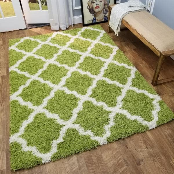 Maxy Home Bella Collection Green 7 Ft X 9 Ft Area Rug Be 2895 7x10 The Home Depot
