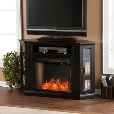 Denton Alexa Enabled 48 in. Electric Smart Fireplace in Black