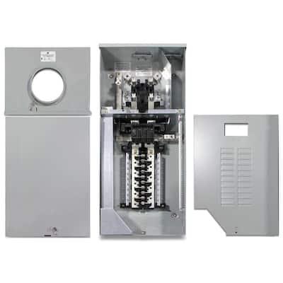 200 Amp 20 Space 40 Circuit Outdoor Combination Main Breaker/Ringless Meter Socket Load Center