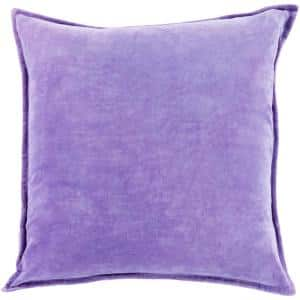 Velizh Purple Solid Polyester 19 in. x 20 in. Throw Pillow