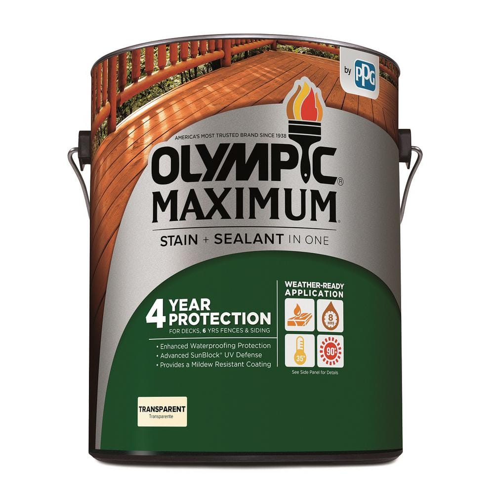 Olympic Maximum 1 Gal Cedar Exterior Stain And Sealant In One 57503a 01 The Home Depot