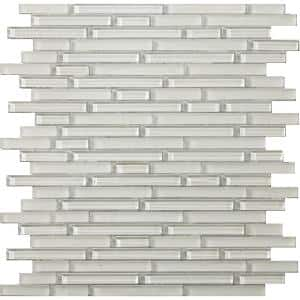 Lucente Blanc Gloss/Matte Mix 12.05 in. x 12.05 in. x 8mm Glass Mesh-Mounted Mosaic Tile (1.07 sq. ft.)