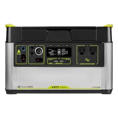 Yeti 1000X Portable Power Station 1000-Watt Electric Switch Lithium Battery Solar Generator,1500W AC Inverter Emergency