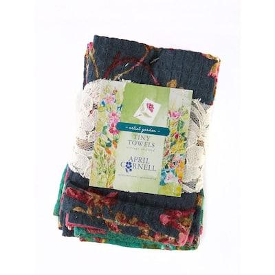 Artist Blues Garden Floral Cotton Kitchen Dish Towels (Set of 6)
