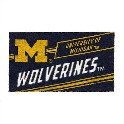 16 in. x 28 in. University of Michigan Coir Punch Mat
