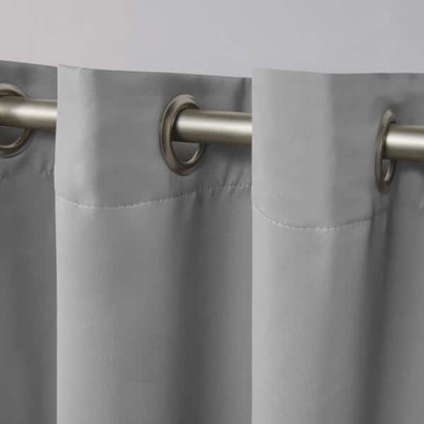 Exclusive Home Curtains Veridian Grey Thermal Grommet Blackout Curtain 52 In W X 96 In L Set Of 2 Eh7982 15 2 96g The Home Depot