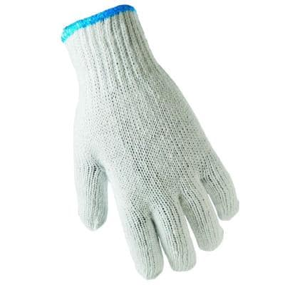 Fits All White String Knit Gloves