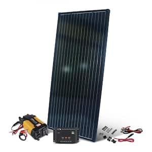200-Watt 12-Volt Monocrystalline Complete Solar Panel Kit with 12-Volt Charge Controller and 400-Watt Inverter