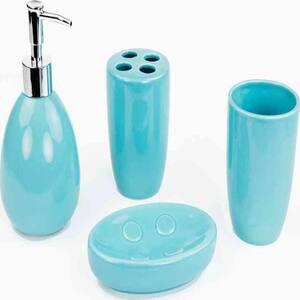 Modona Dolphin 4 Piece Kids Bathroom Accessories Set Bs Df A The Home Depot