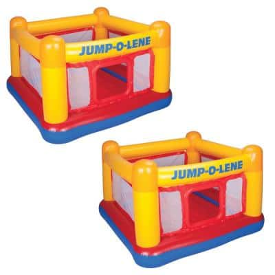 Inflatable Jump O Lene Play Ball Pit Playhouse Bounce House Ring (2-Pack)