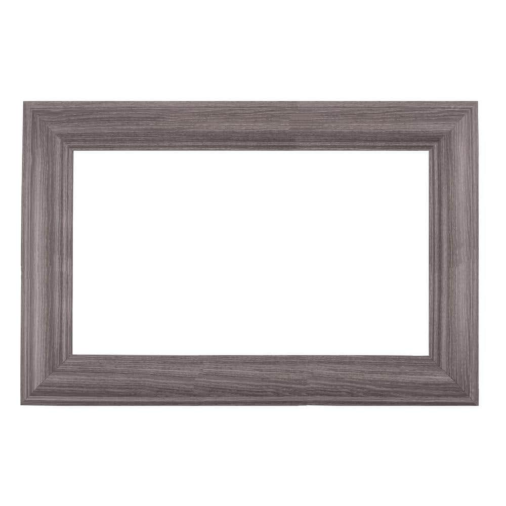 Mirrorchic Avalon 24 In X 20 In Diy Mirror Frame Kit In Gray Oak Mirror Not Included E17973 17 The Home Depot