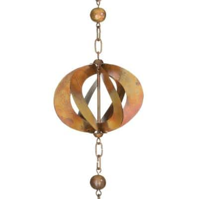Rain Chain-Copper Spinner