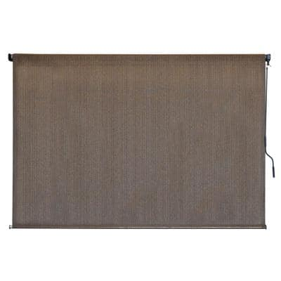 Driftwood Cordless UV Protection Fabric Exterior Roller Shade 96 in. W x 72 in. L
