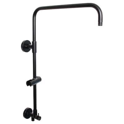 ShowerSlide 10 in. Riser Shower Bar in Matte Black