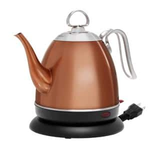 Mia 4-Cup Copper Electric Kettle with Automatic Shut-off
