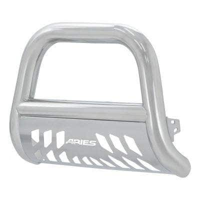 Big Horn 4-Inch Polished Stainless Steel Bull Bar, Select Dodge, Ram 1500