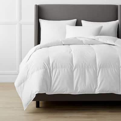 Alberta Medium Warmth White King Euro Down Comforter