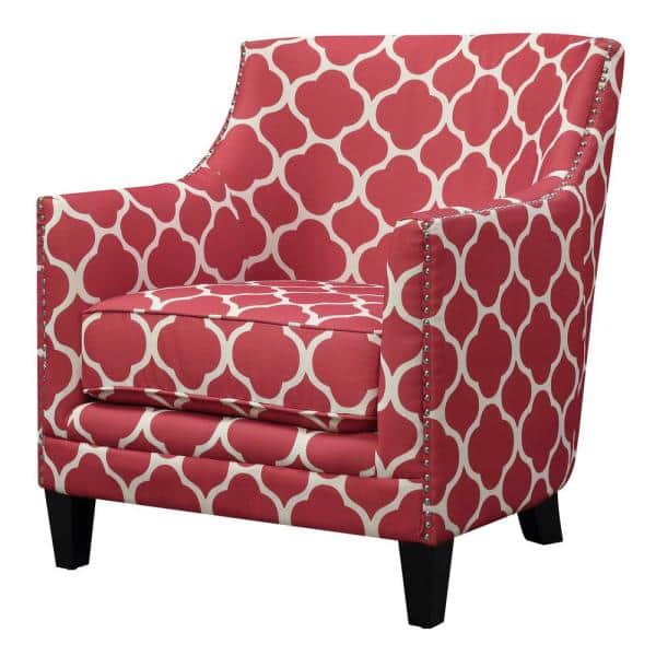 Deena Red Accent Chair Udh708100ca, Red Accent Chair Living Room
