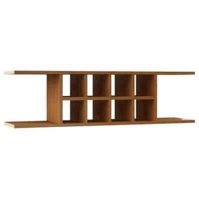 Hampton Ready to Assemble 48 x 13.375 x 11.25 in. Wall Flex Shelf in Medium Oak