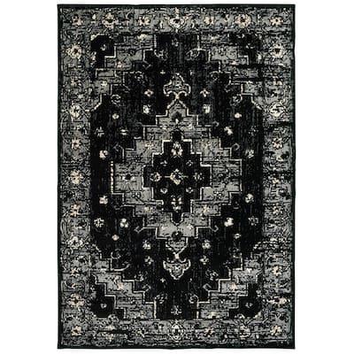 Infinity Black/Gray 7 ft. 9 in. x 9 ft. 5 in. Indoor Area Rug