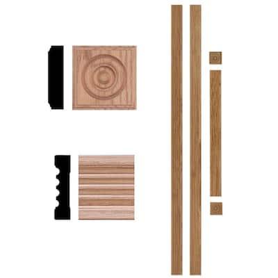 5000 3/4 in. x 3 in. x 7 ft. Oak Wood Door Trim Casing Moulding Set (Up to 40 in. x 84 in. Opening)