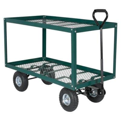 300 lb. 48 in. x 24 in. Landscape Cart 2 Shelf