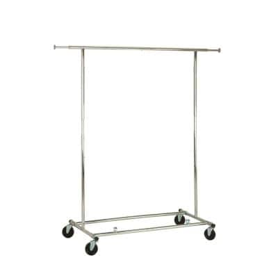 Chrome Expandable Clothes Rack (74 in. W x 66 in. H)