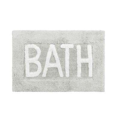 Cotton BATH 21 in. x 34 in. Lakeside Gray Rug