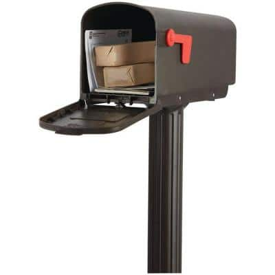 Harrison All-in-One, Medium, Plastic, Mailbox and Post Combo, Bronze
