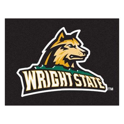 NCAA Wright State University Black 3 ft. x 4 ft. Area Rug