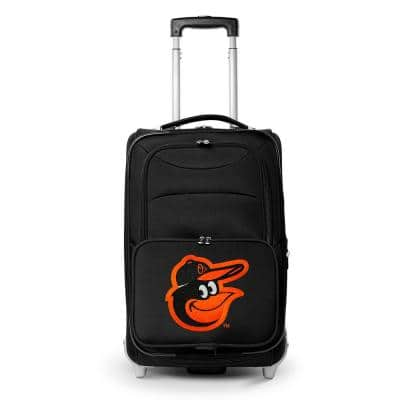 MLB Baltimore Orioles  21 in. Black Carry-On Rolling Softside Suitcase