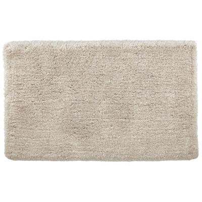 Biscuit 25 in. x 40 in. Non-Skid Cotton Bath Rug