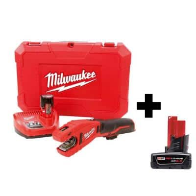 M12 12-Volt Lithium-Ion Cordless Copper Tubing Cutter Kit with 6.0Ah Battery