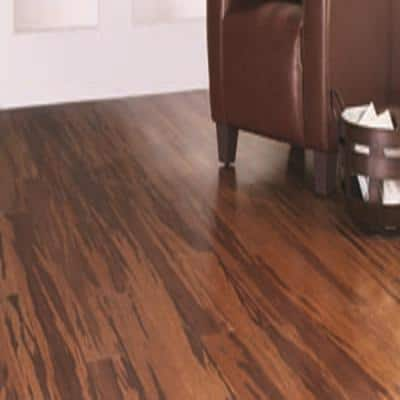 Strand Woven Honey Tigerstripe 3/8 in. T x 5-1/8 in. W x 72 in. L Engineered Click Bamboo Flooring