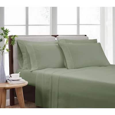 Solid Green Twin 4-Piece Sheet Set