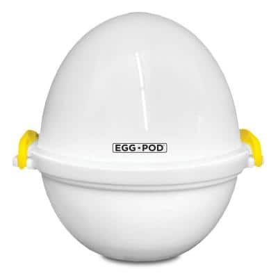 Egg Pod 4-Egg White Microwave Egg Cooker that Perfectly Cooks Eggs and Detaches the Shell!