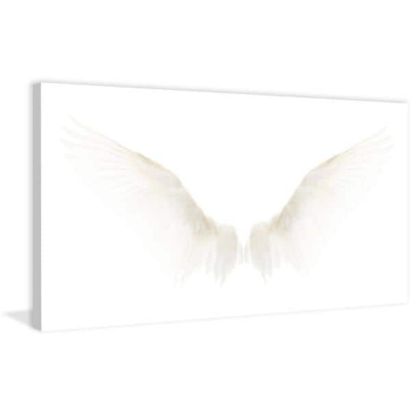 22 5 In H X 45 In W White Wings By Marmont Hill Printed Canvas Wall Art Mhwe 218 C 45 The Home Depot