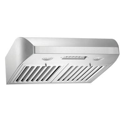 680 CFM 36 in. Under Cabinet Range Hood in Stainless Steel with QuietMode from the Brillia Collection