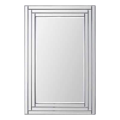 Medium Rectangle Glass Shatter Resistant Contemporary Mirror (36 in. H x 24 in. W)