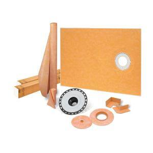 Kerdi-Shower-Kit 38 in. x 60 in. Off-Center Shower Kit with ABS Flange