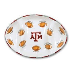Texas A&M Ceramic Football Tailgating Platter